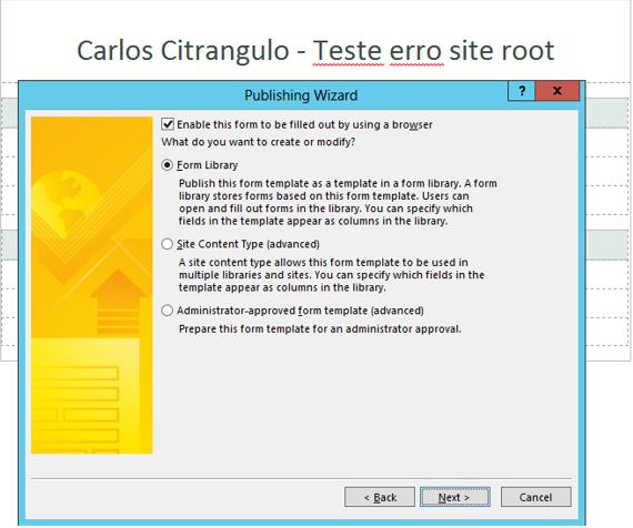 Problemas com web application por n o ter um site for Terr root word